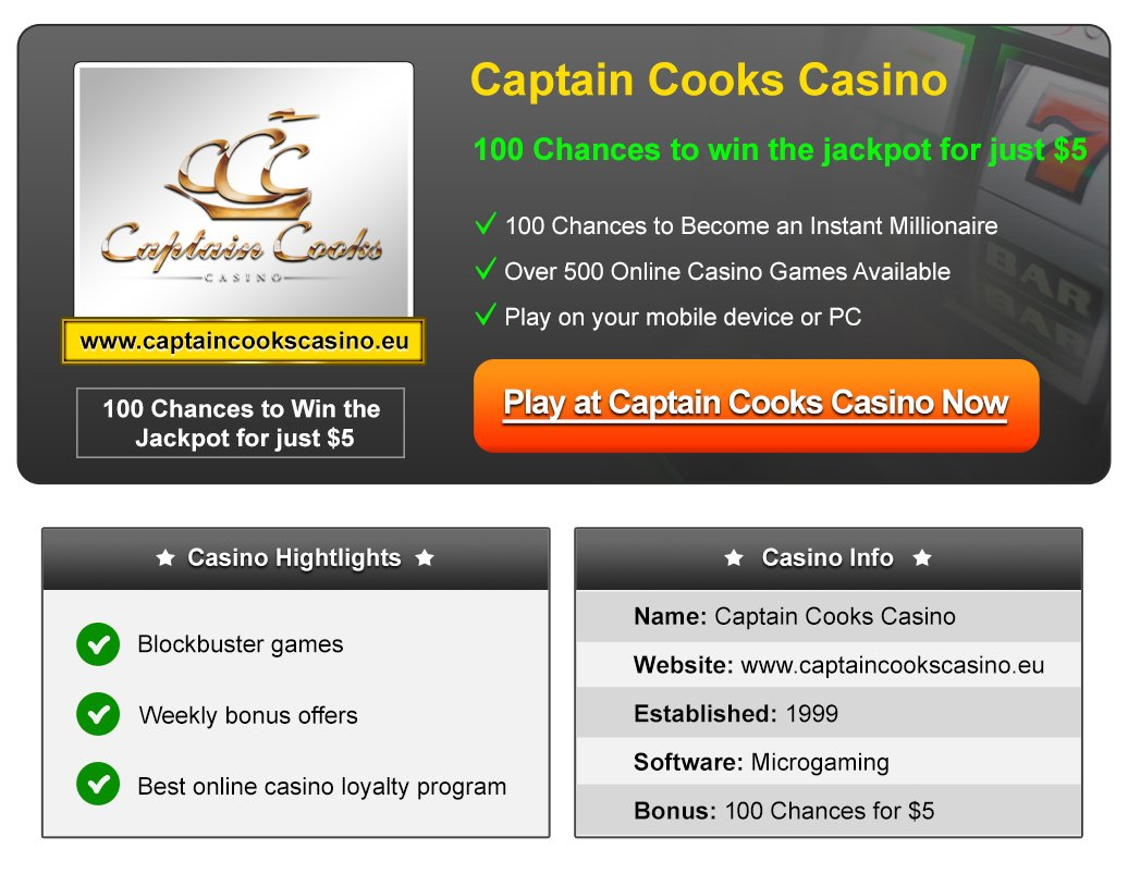 captain cooks casino online reviews